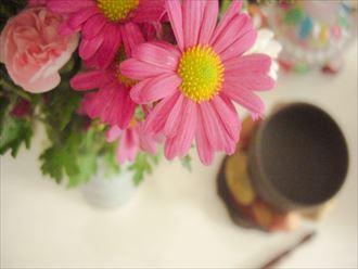 手元供養の仏花