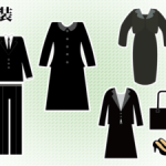 女性の洋装喪服