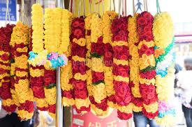 ヒンドゥー教の花飾り